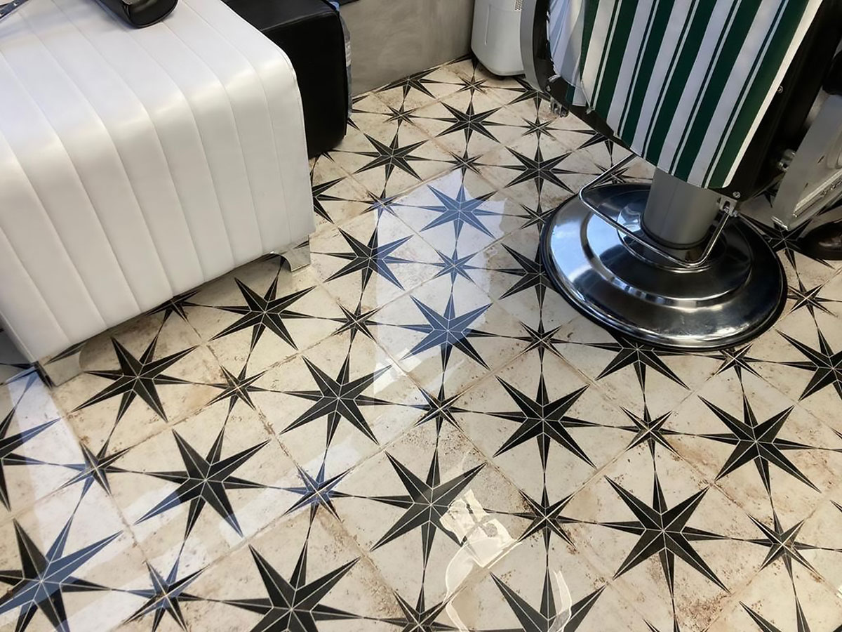 Boyden Tiles project barbers in Sutton